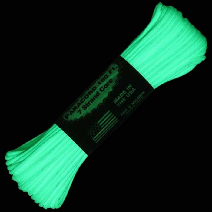 Paracord Glow ATWOOD ROPE Paracorde phosphorescente 100ft (30m)